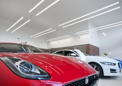 Jaguar Showroom Commercial Lighting